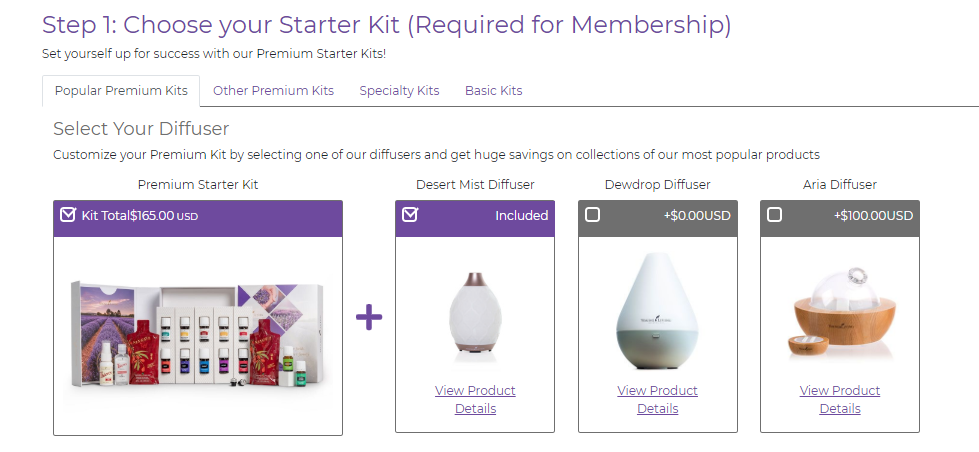 How to get started, choose a starter kit