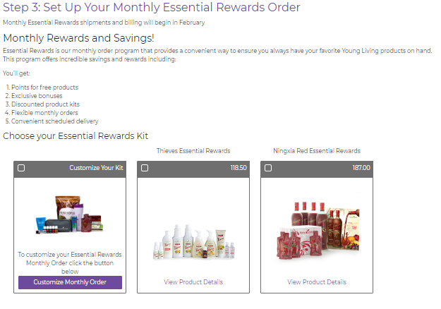 How to get started, Essential rewards sign up screen shot